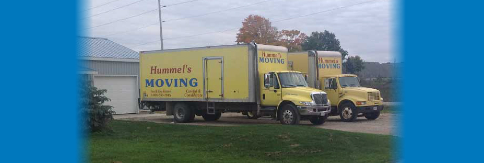 Hummel's Moving trucks in Mapleton